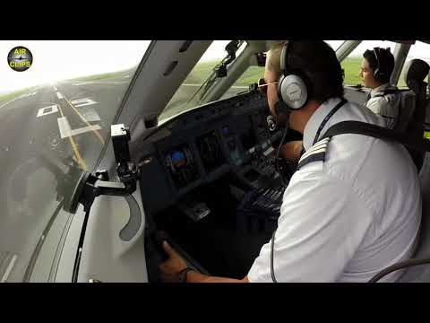 Steep High Performance Takeoff of Sukhoi Superjet from Mexico City Airport, Pilot's View! [AirClips]