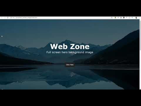 Full Screen Hero Background Image Using HTML And CSS | WEB ZONE