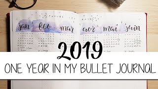 2019 | ONE YEAR IN MY BULLET JOURNAL