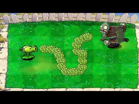 Plants vs Zombies Hack - 789 Peashooter vs Gargantuar Fight!