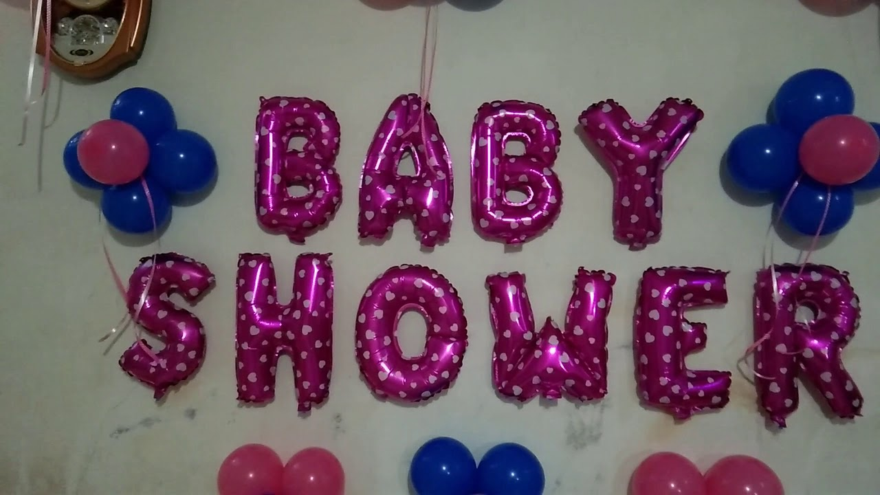 Baby Shower Balloon Decoration At Home Balloon Decoration Ideas Het Decor Youtube