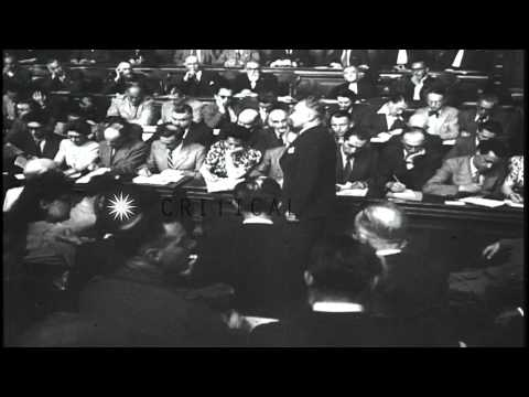 French General Marshal Petain is found guilty and sentenced to death for treason ...HD Stock Footage