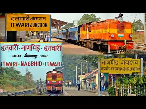 Narrow Gauge Train Full Journey Compilation !! Itwari to Nagbhir Section of S.E.C.R.