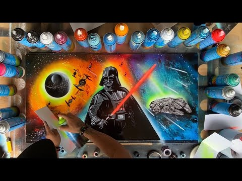 Darth Vader Spray Art 2020