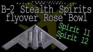 real atc real video b 2 stealth flyover rose bowl stadium