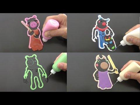 ROBLOX PIGGY JUMPSCARES PANCAKE ART - CLOWNY, TEACHER, DINOPIGGY