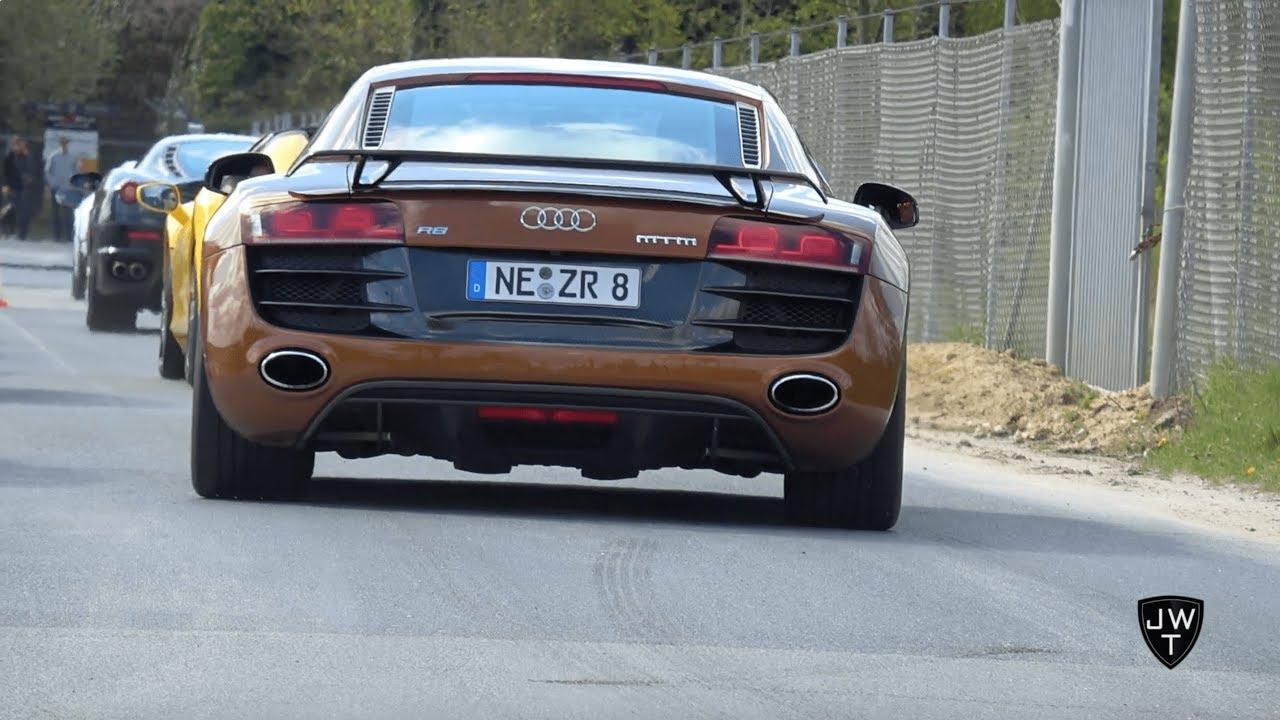 Audi R8 V8 & R8 V10 LOUD Exhaust Sounds! Accelerations, Drag Races & More!