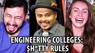 Sorabh Pant | ENGINEERING COLLEGES: $H*TTY RULES | Standup Comedy Reaction!