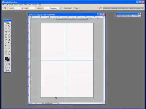 photoshop tutorial 1 creating an a3 template for a poster
