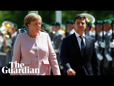 Angela Merkel shakes during national anthem, blaming dehydration