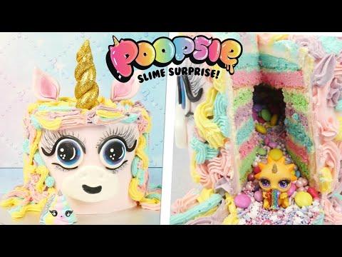 Einhorn Kuchen mit Überraschung / Poopsie Slime Surprise Cake / Unicorn Pinata Cake