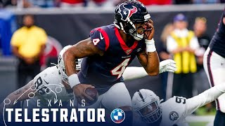 Deshaun Watson KICKED in the EYE and he still throws a TOUCHDOWN | Houston Texans Telestrator