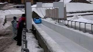 Bobfahrt Lillehammer - Einfahrt