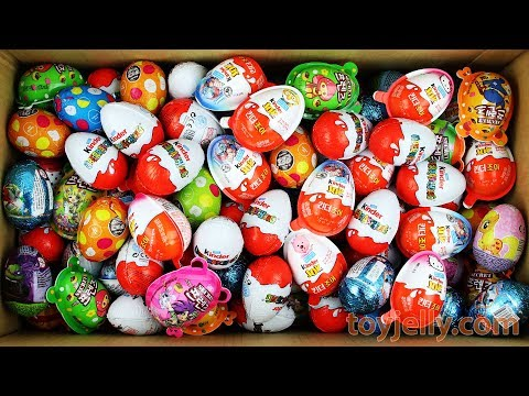 New Surprise Eggs Surprise Kinder Joy For Boys and Girls Unboxing toys Learn Colors Kids Play Doh