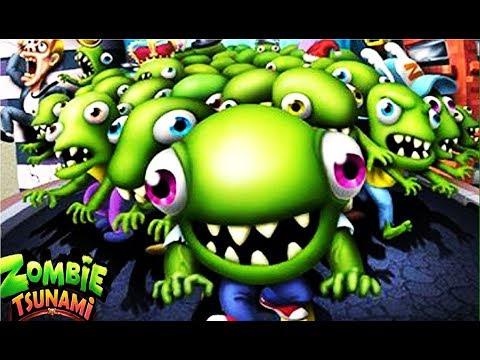 Зомби цунами #1 Мульт Игра для детей про  зомби ZOMBIE TSUNAMI  #Мобильные игры