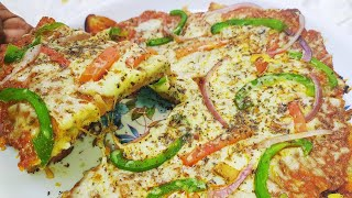 Omelette Bread Pizza Without Oven | 5 Minutes Easy Bread Pizza | Pizza In Fry Pan