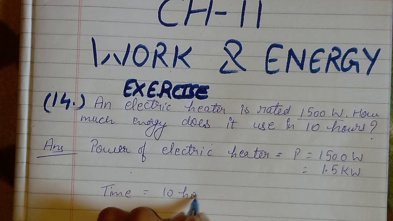 class 9 science ch 11 work and energy exercise q 14 - YouTube