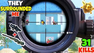 Everyone Surrounded Me Thinking They Can Kill Me in PUBG Mobile • (31 KILLS) • PUBGM (HINDI)