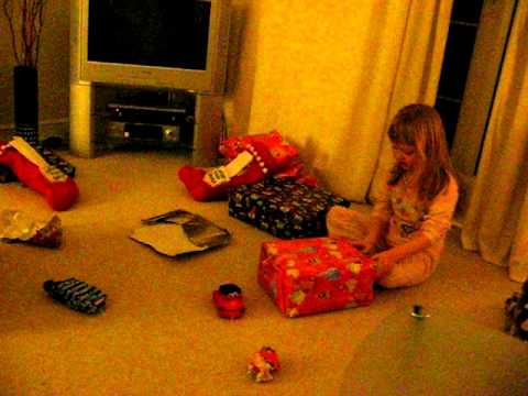 Opening Christmas presents 2011