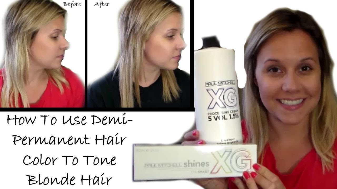 How To Use Demi Permanent Hair Color To Tone Blonde Hairhair Extensions