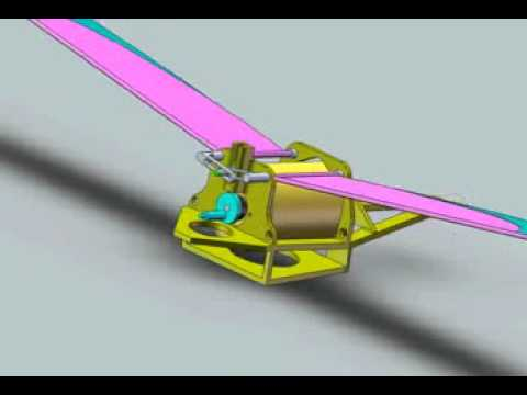 Ornithopter 3D model animation - Zlatko Stojanovic
