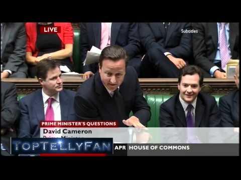"""Calm down, dear!"" - David Cameron is Michael Winner! (Prime Minister's Questions, 27.4.11)"