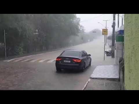 Chuva forte em Piritiba-BA.