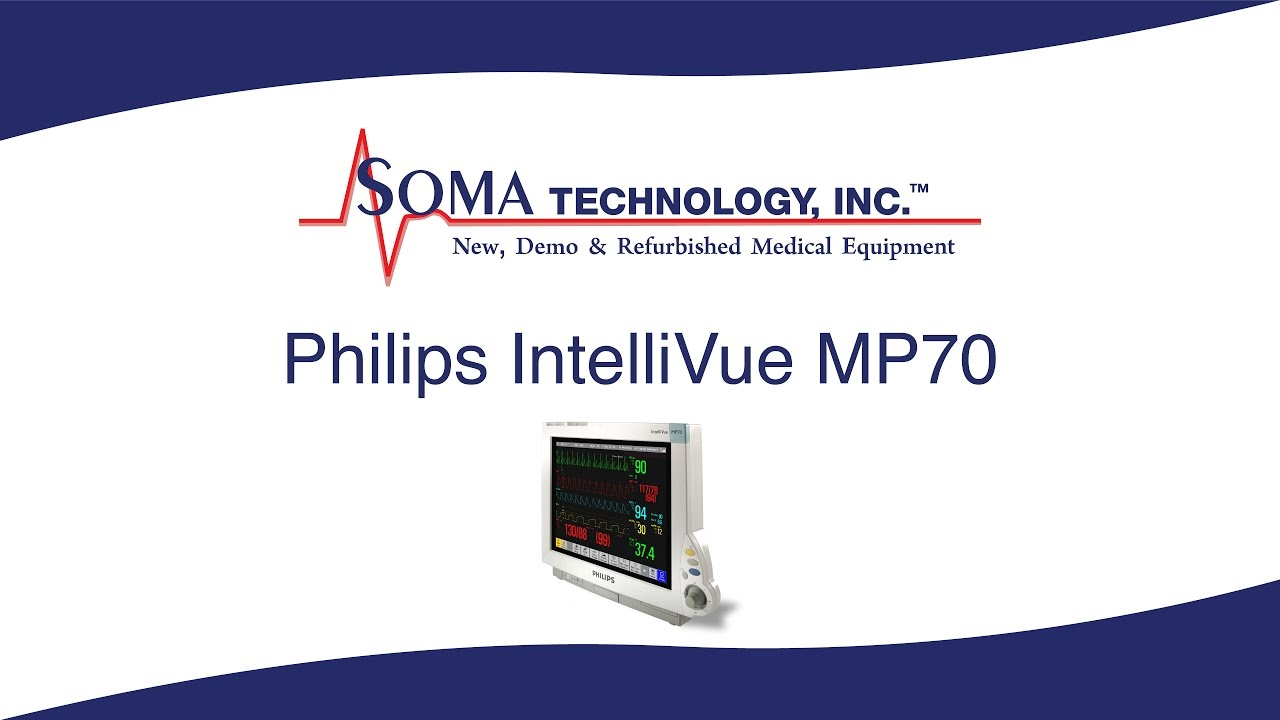 """Philips IntelliVue MP70 Patient Monitor With 15"""" Touchscreen"""