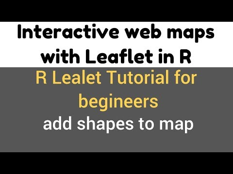 R Leaflet Tutorial | Add Shapes to map | addCircles() demo