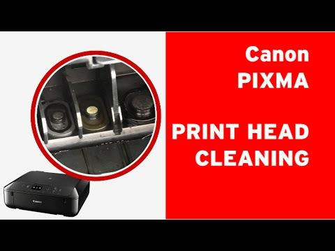 How to clean Canon PIXMA print head, flushing a clogged print head