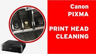 How to clean Canon PIXMA print head, flushing a clogged print head