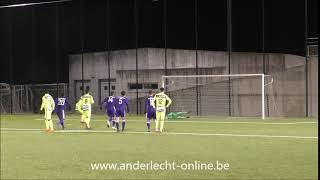Andonline U21 Anderlecht - Gent penalty stopped by Delmotte