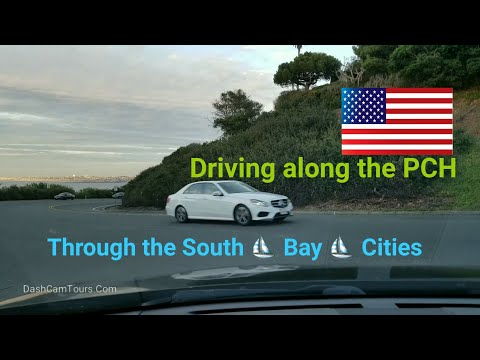Dash Cam Tours🚘 - Driving on the PCH through South Bay Cities, California USA