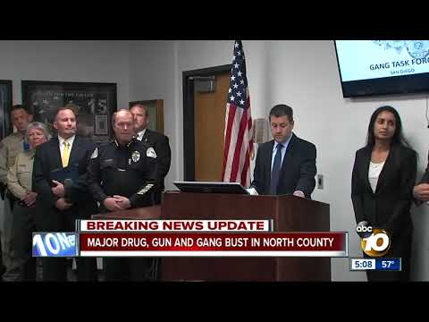 Drug, gun and gang bust in North County