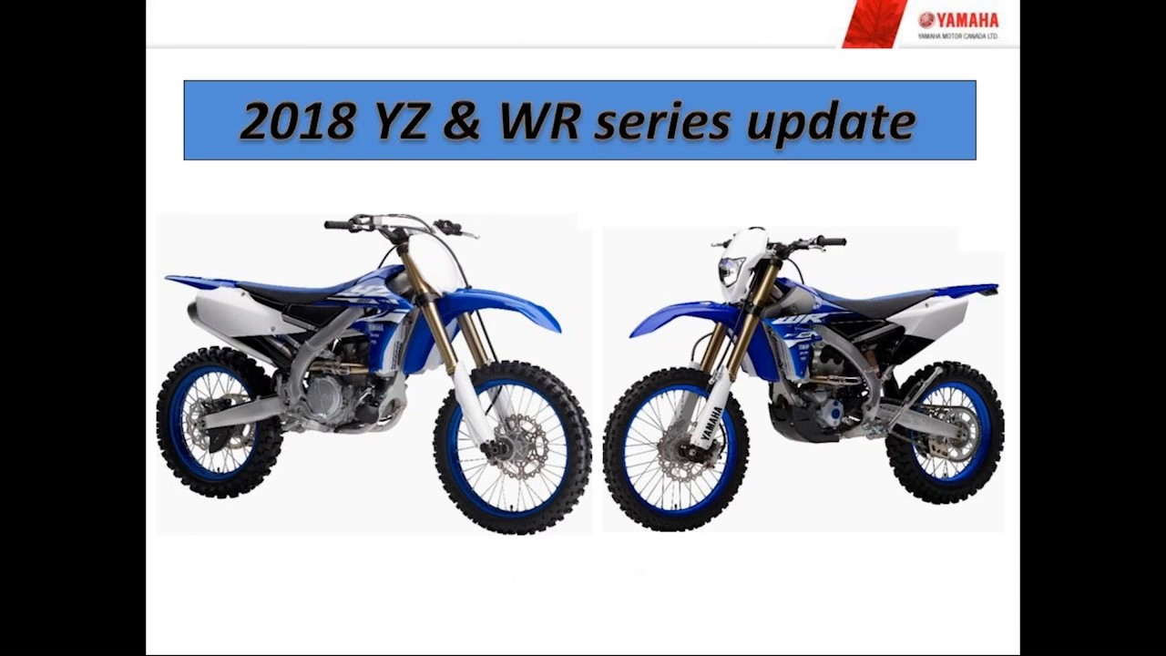 2018 Yz And Wr Motorcycles