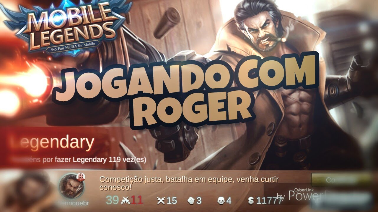 JOGANDO COM O ROGER (Mobile Legends)