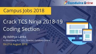 TCS Ninja Coding Section | Tips & Tricks