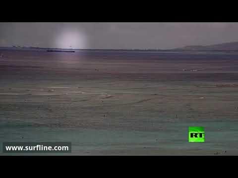 شاهد لحظة سقوط مقاتلة أمريكية في المحيط  - نشر قبل 15 دقيقة