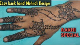 Easy simple back hand Mehndi design Arabic gol tikki Mehndi design Rakhi special Mehndi design