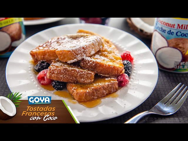 Tostadas Francesas de Coco - Chef Omar Álvarez