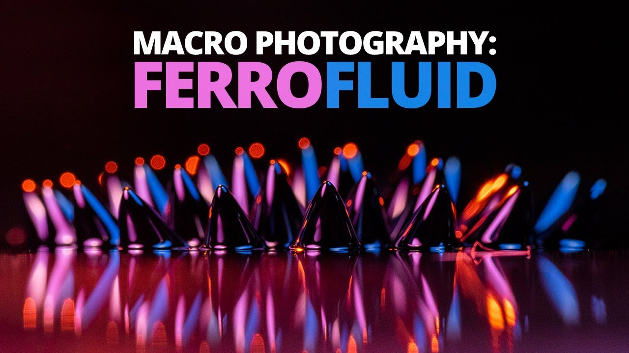 Abstract Photography Tutorial: Amazing Abstract Photos Using Ferrofluid!