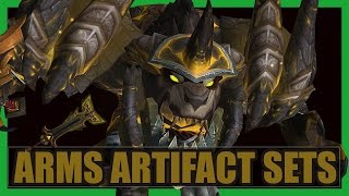 10 Cool Arms Warrior Artifact Sets WoW Legion | Stromkar Weapon Transmog