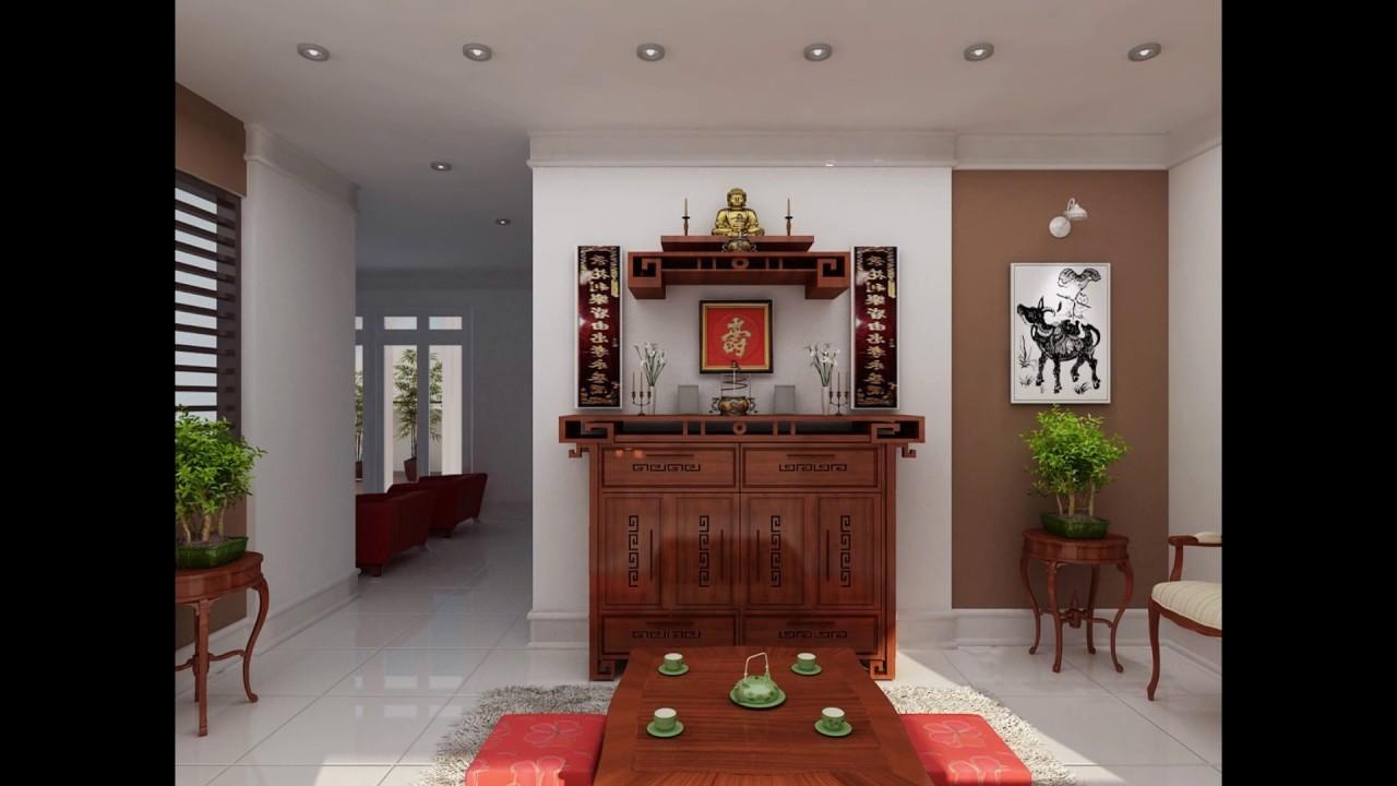? Bàn thờ đẹp hiện đại nên đặt ở đâu - Xây những mẫu trần phòng thờ đẹp nhất