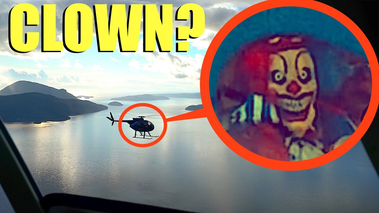when you see Clowns in a helicopter chasing you, fly away as FAST as possible! (Helicopter Chase)