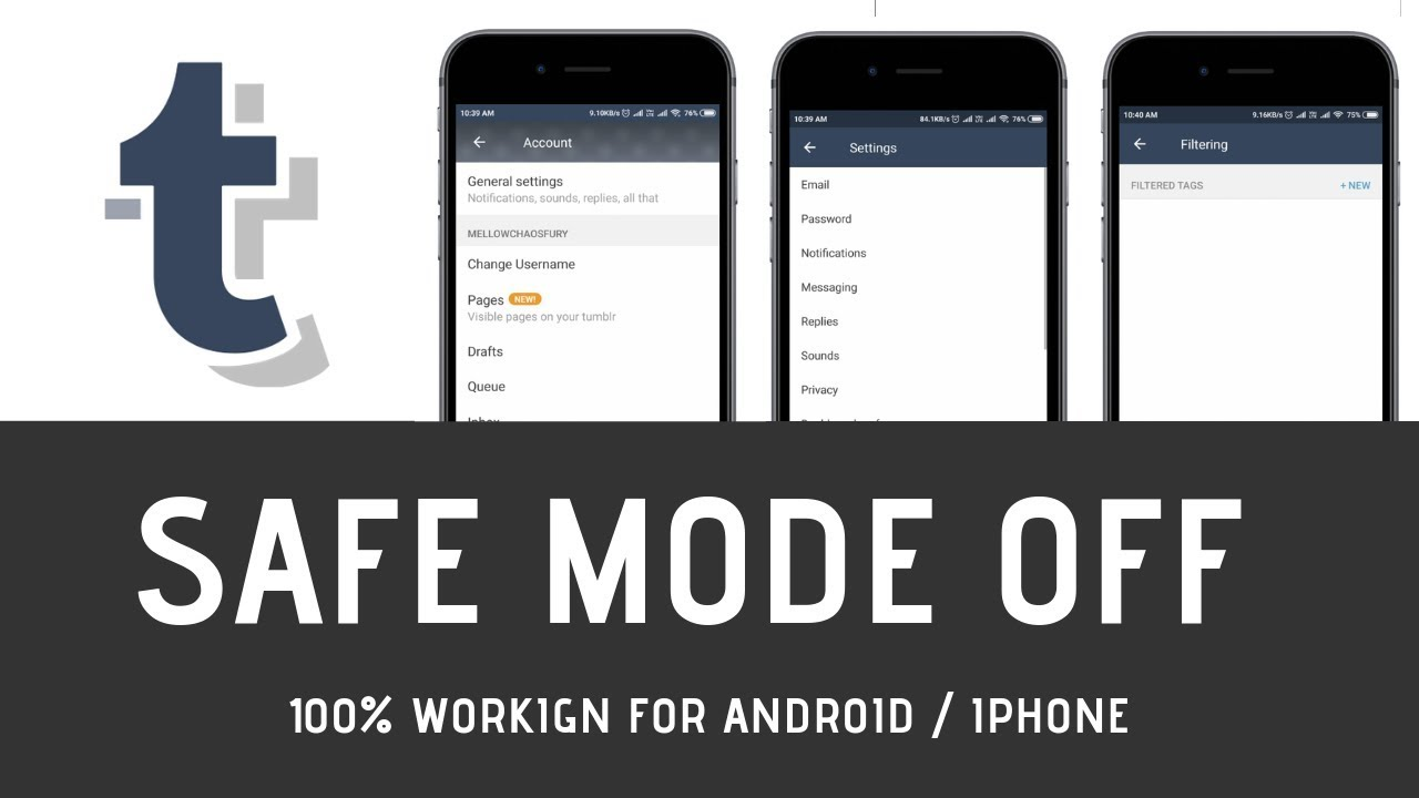 How To Turn Off Safe Mode On Tumblr For Android & iOS