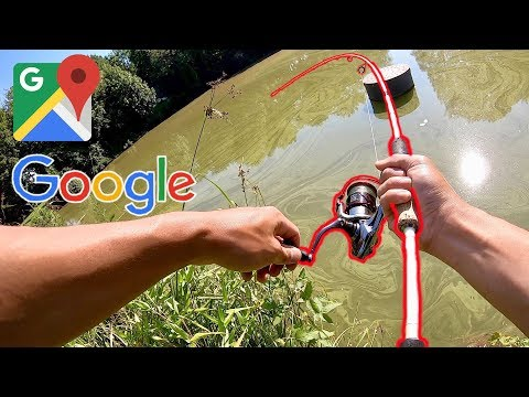 CRAZY GOOGLE MAPS FISHING CHALLENGE!!! (Surprise Catch)