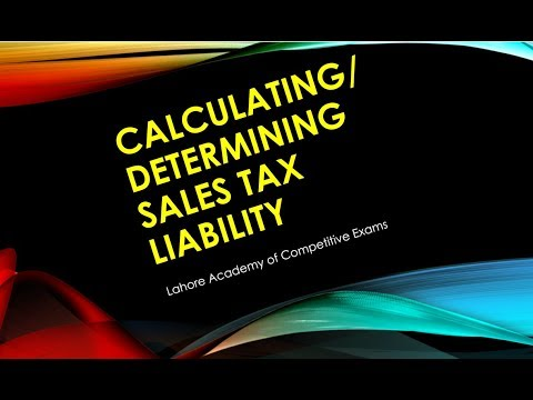 Determination of Tax Liability Sales Tax Act 1990