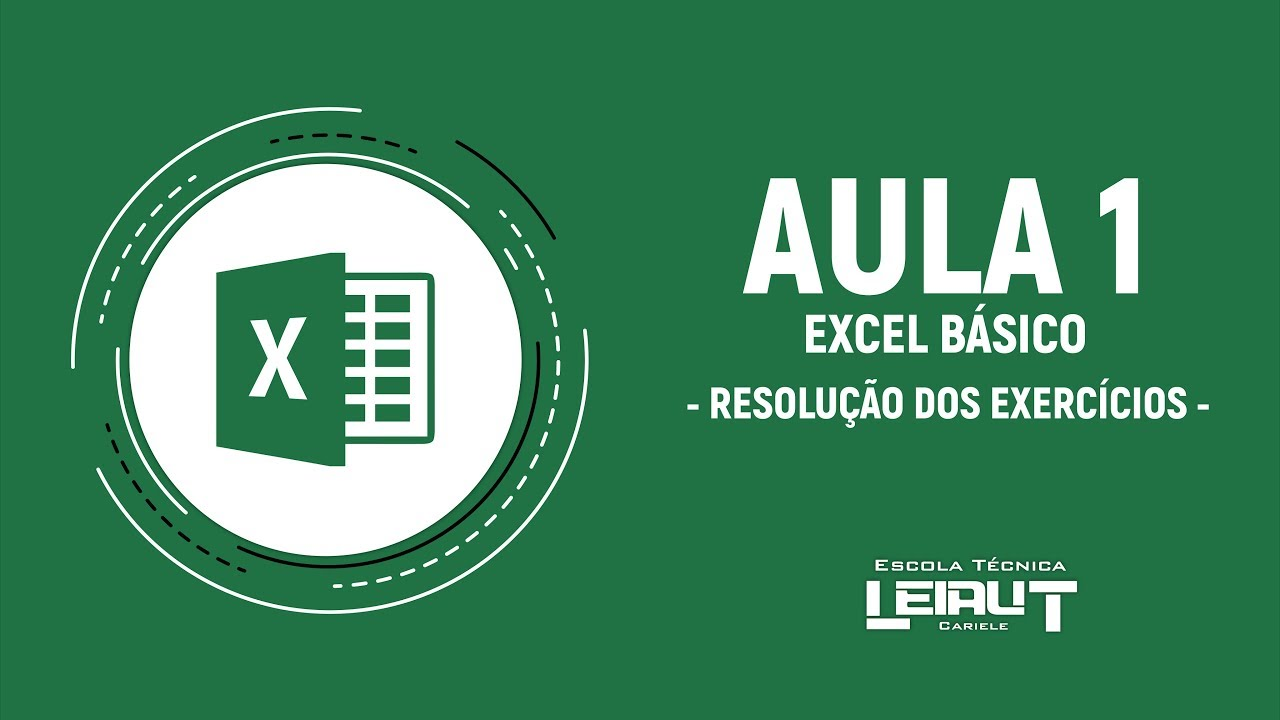 01- Curso de Excel (Básico) - Resolução dos Exercícios