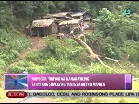 NAPOCOR, tiniyak na nananatiling sapat ang suplay ng tubig sa Metro Manila || Aug. 7, 2014