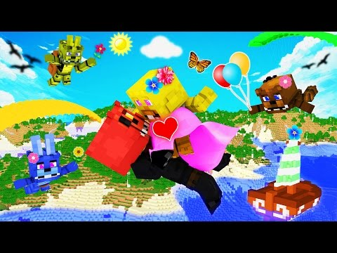 Minecraft - FNAF Island Resort - LOVE STORY!